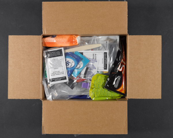Cardboard box ration pack, menu two, 2013