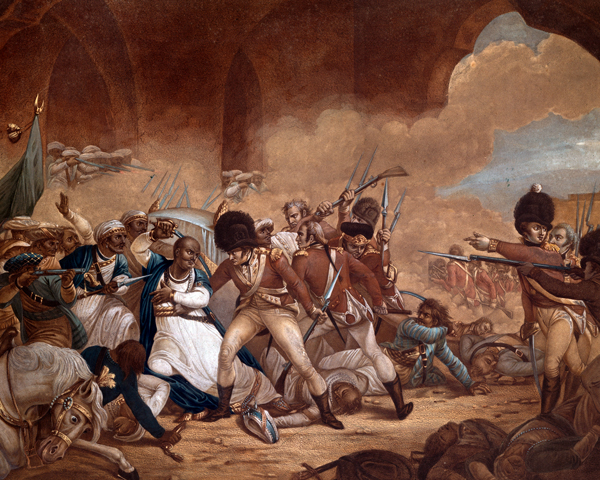 Tipu Sultan's last stand at Seringapatam, 1799