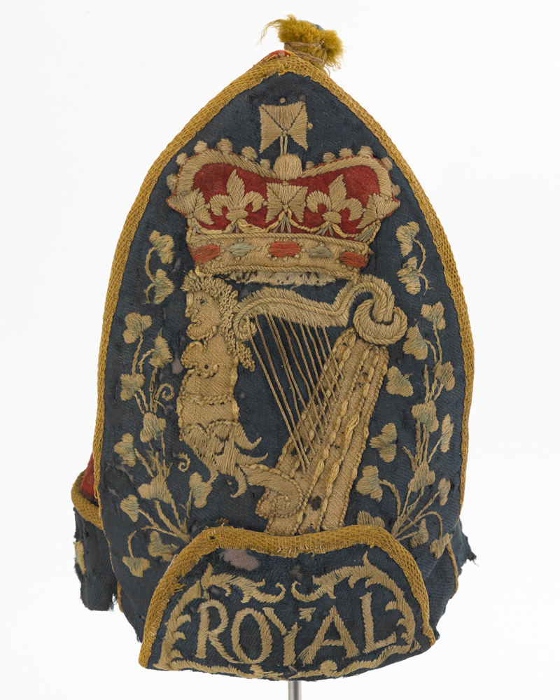 Grenadier cap, other ranks, Royal Regiment of Ireland, c1710