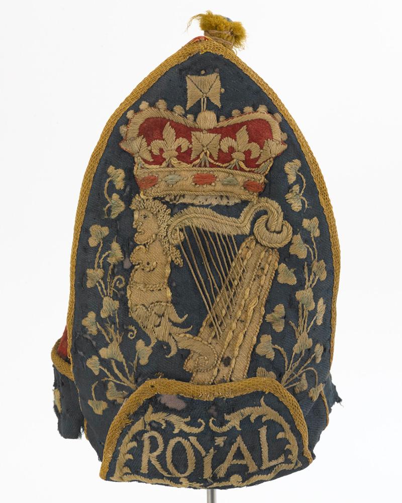 Grenadier cap, other ranks, Royal Regiment of Ireland, c1710