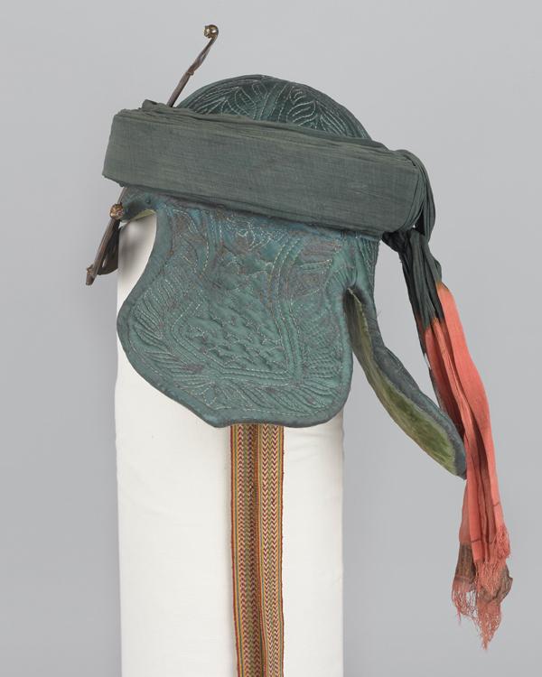 Side view of Tipu Sultan's war turban, c1799