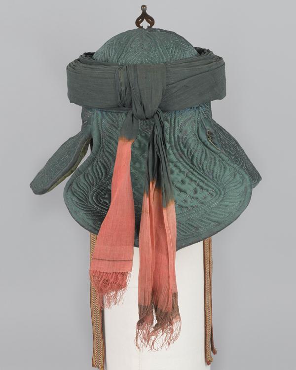 Rear view of Tipu Sultan's war turban, c1799