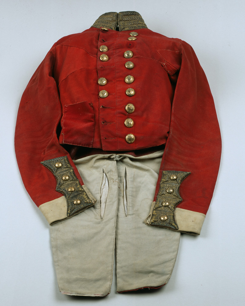 Officer's full dress coatee worn by Captain Audley Lemprière, 77th (East Middlesex) Regiment, c1855