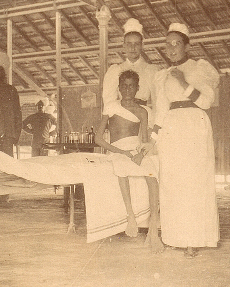'The only case of Black Plague which recovered', Arthur Road Hospital, Bombay, 1897