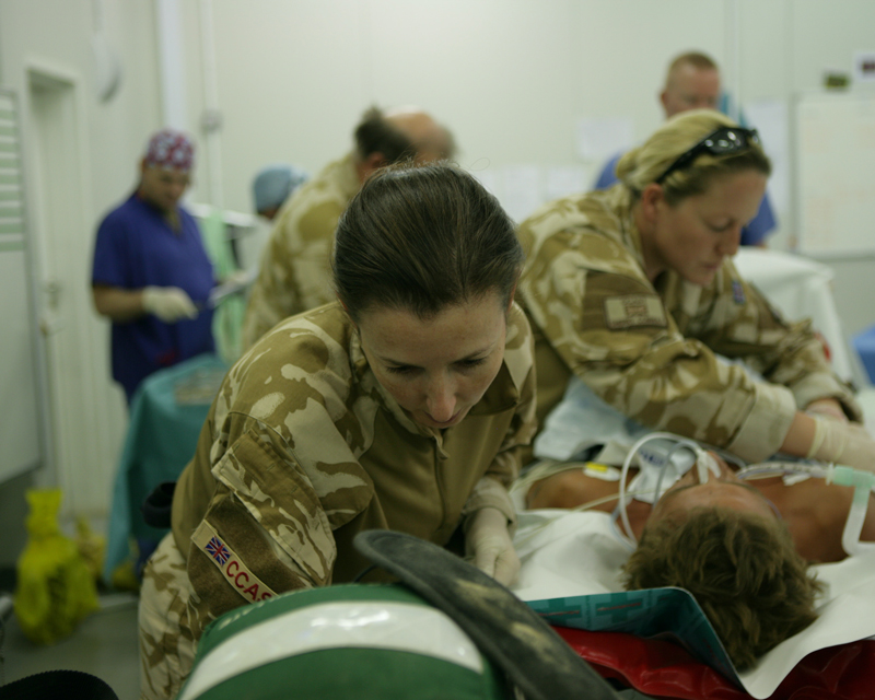 Nurses at Camp Bastion hospital, 2007