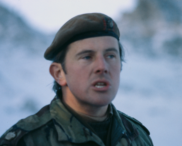 Major John Kiszley, who won a Military Cross on Tumbledown, June 1982