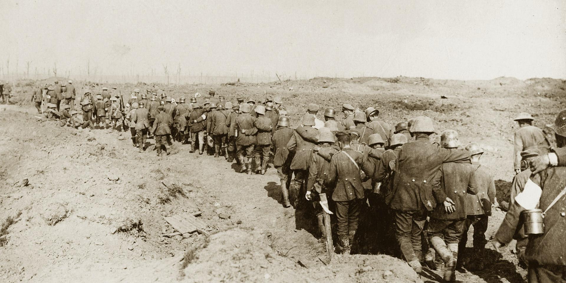 German prisoners of war captured during the battle of the Menin Road, 1917