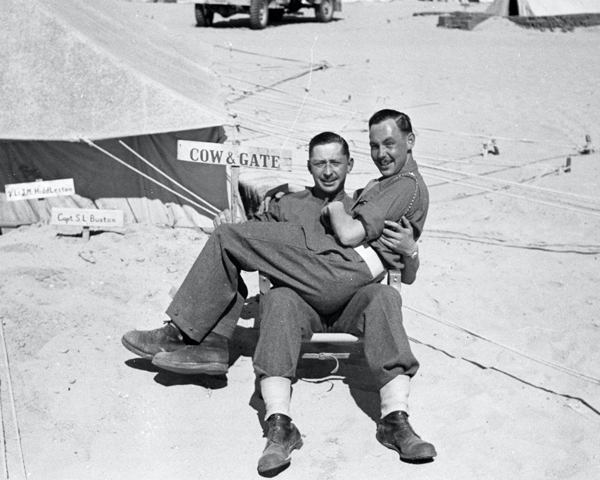 'Reggie and Derek Reddish', North Africa, c1942
