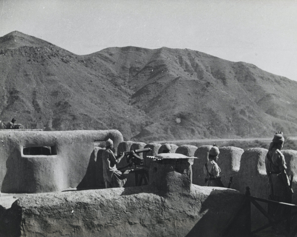 A Tochi Scouts' outpost in North Waziristan, 1944