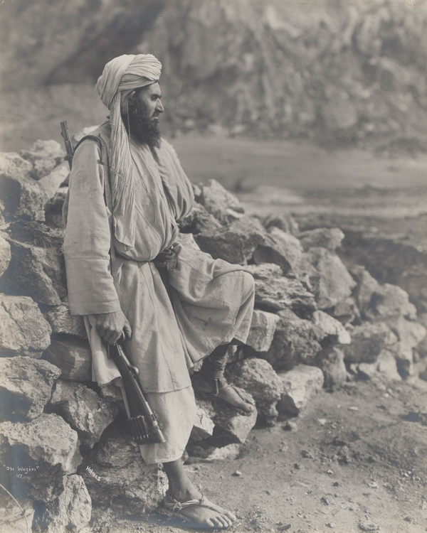 A Waziri tribesman with rifle, c1919