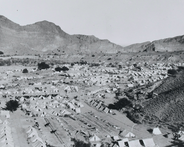 Camp of the 2nd Infantry Brigade at Spalvi, Waziristan, 1937