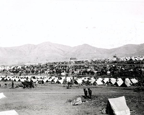 The British camp at Maidan in the Tirah, 1897