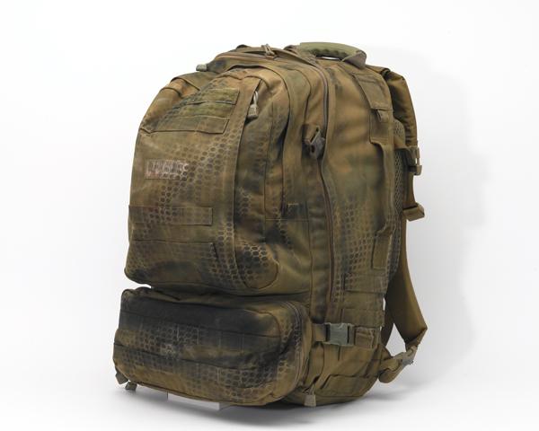 Lance Corporal Chris Schivas's medical bergen used in Afghanistan, c2007