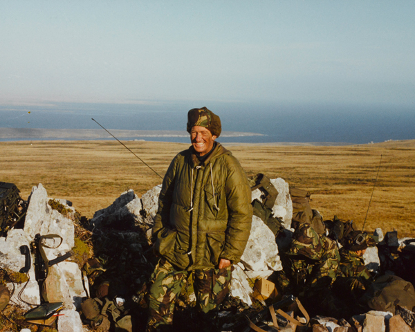 'H' Jones in his foxhole on Sussex Mountain, 1982