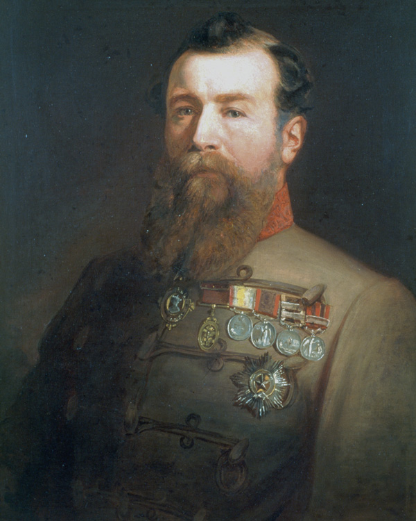 Brigadier General Sir Harry Burnett Lumsden CB, in the uniform of The Queen's Own Corps of Guides, 1866