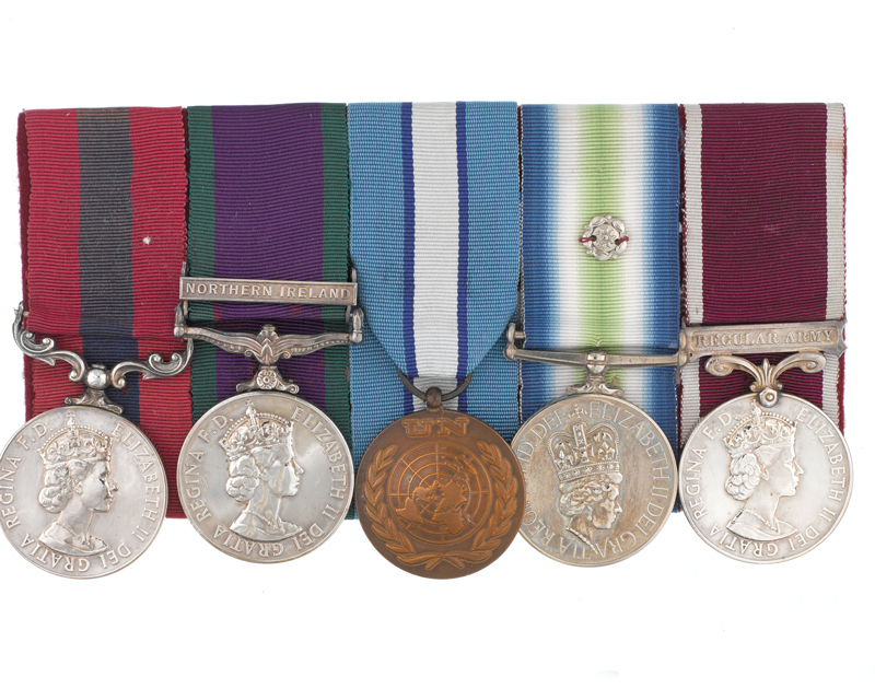 Distinguished Conduct Medal group awarded to Colour Sergeant Brian Faulkner of 3 Para, 1982