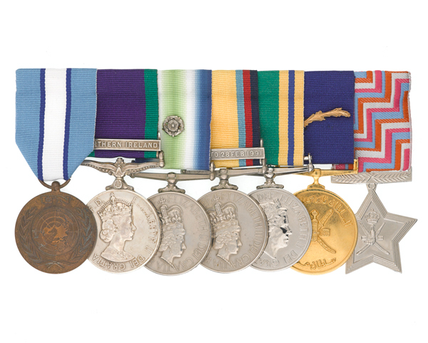 Medals of Warrant Officer 1 'Dia' Harvey of the SAS, 1964-95