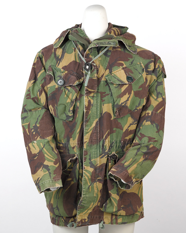 Camouflage smock worn by Warrant Officer 1 'Dia' Harvey, SAS, c1982