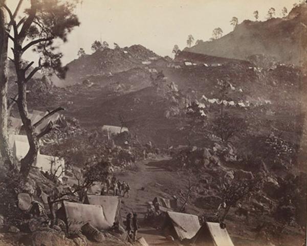 Camp of the 3rd Sikh Infantry, Punjab Irregular Force, Umbeyla, 1863