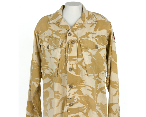 Shirt worn by combat medic Sergeant Chantelle Taylor in Afghanistan, 2008