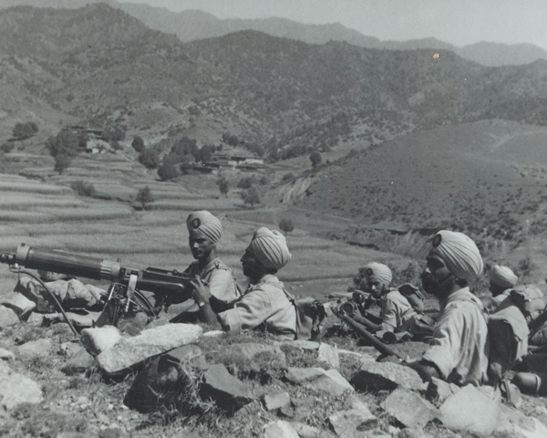 A machine gun section of 2nd Royal Battalion (Ludhiana Sikhs), 11th Sikh Regiment, Waziristan, 1936