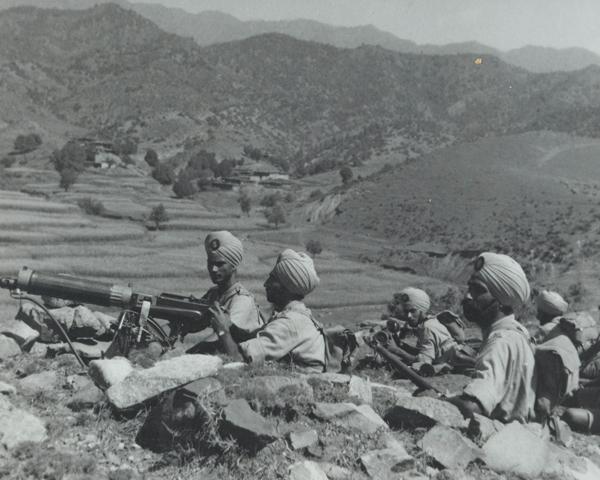 A machine gun section of 2nd Royal Battalion (Ludhiana Sikhs), 11th Sikh Regiment, Waziristan, 1936