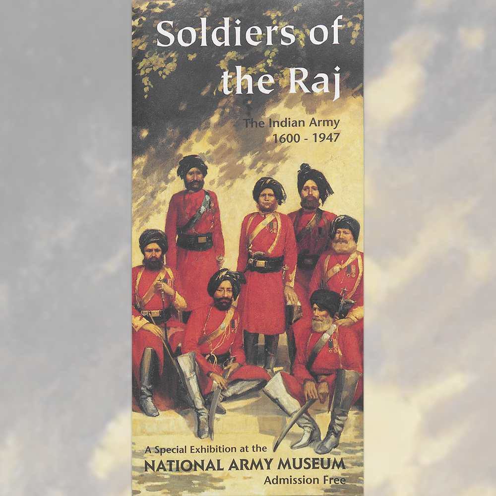 Exhibition leaflet cover, Soldiers of the Raj, 1997