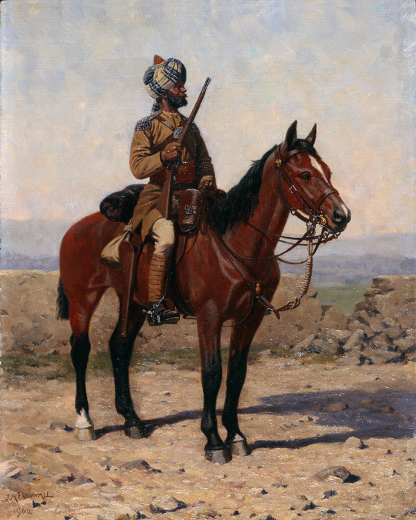 A mounted sowar of the Guides Cavalry, c1902