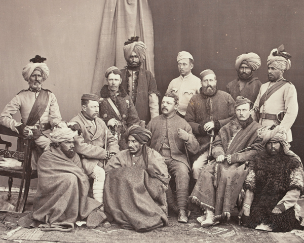 British and Indian officers, 5th Regiment of Infantry, Punjab Frontier Force, 1879