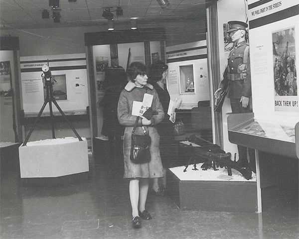 Visitors at the London's Citizen Soldiers exhibition, 1972