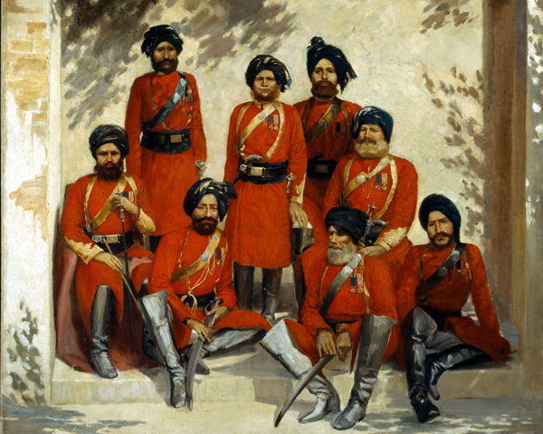 NCOs of the 2nd Regiment of Cavalry, Punjab Frontier Force, c1863