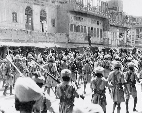 Riot control duties in Peshawar, 1930