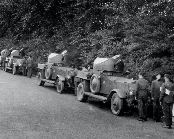 Convoy of 3rd County of London Yeomanry Rolls Royce armoured cars, c1939