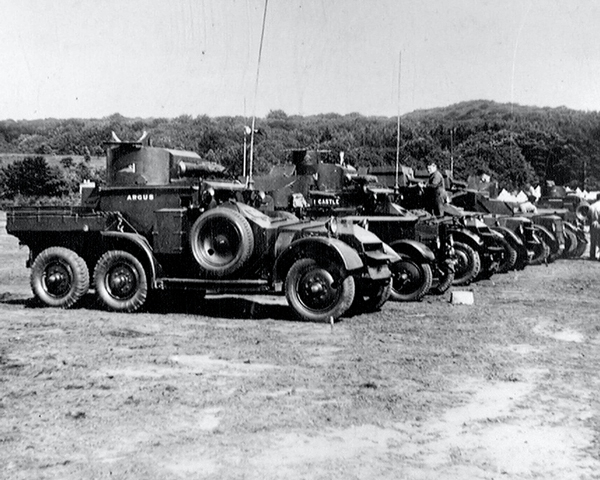 'Vehicle Lines', Lanchester Armoured Cars, Budleigh Salterton, Devon, 1938