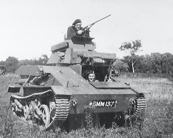 A Vickers Mk IV light tank, 3rd County of London Yeomanry (Sharpshooters), Popham, Hampshire, 1939