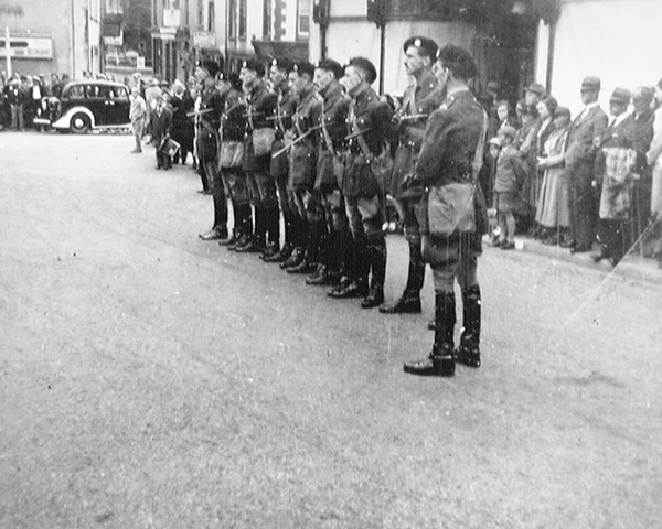 Church Parade, 3rd County of London Yeomanry (Sharpshooters), Minehead, Somerset, 1939