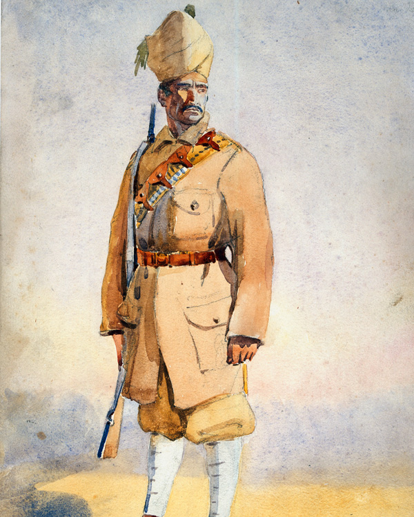 A Malikdin Khel Afridi of the Khyber Rifles, c1908