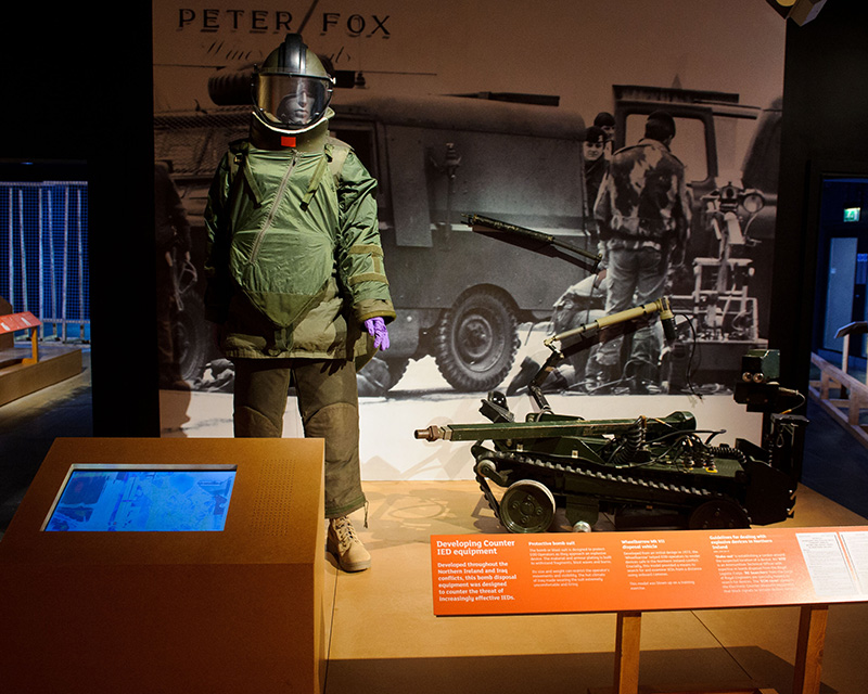 Bomb disposal kit and equipment, Unseen Enemy exhibition, 2013