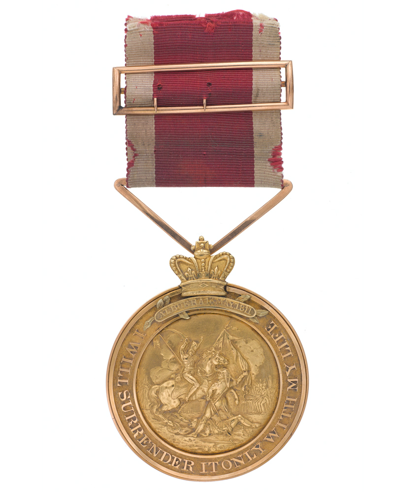 Regimental Medal awarded to Lieutenant Matthew Latham, 3rd (The East Kent) Regiment, for saving the colours at Albhuera, 1811