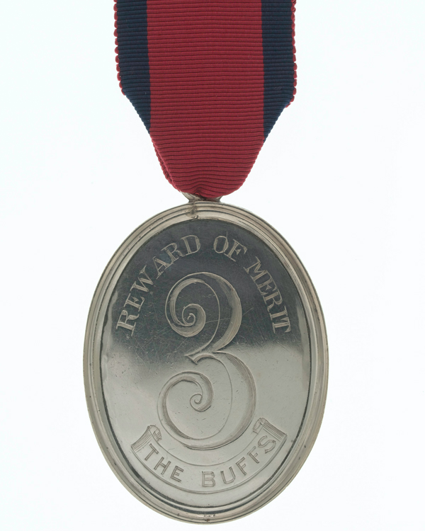 Medal of merit in silver, 3rd (East Kent) Regiment (The Buffs), c1812