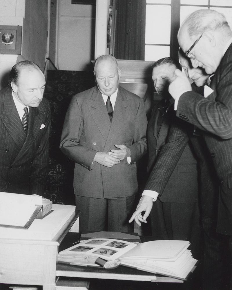 The Duke of Gloucester (second from left), 1962