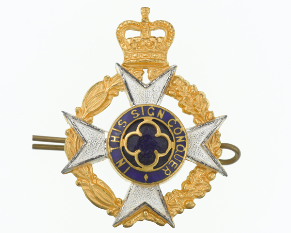 Officers' cap badge, Royal Army Chaplains' Department, c1980
