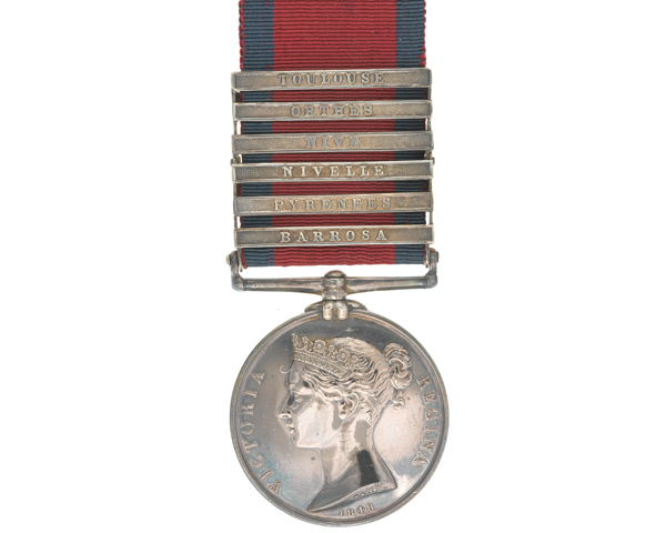 Military General Service Medal 1793-1814, awarded to Lieutenant Daniel Forbes, 95th Rifles