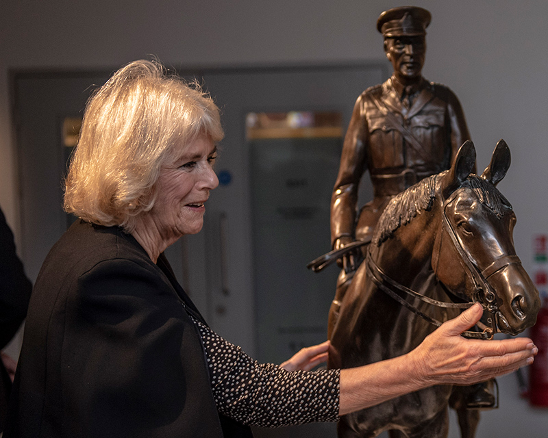 The Duchess of Cornwall at the Alfred Munnings exhibition, 2018