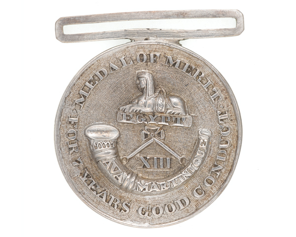 Seven years' service medal, 13th (1st Somersetshire) Regiment, c1825