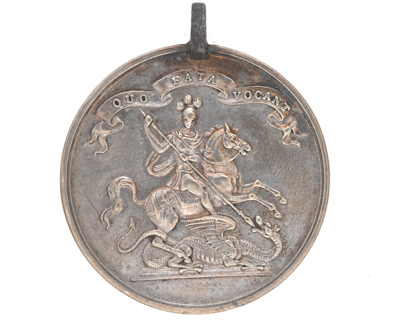Medal of merit awarded for 14 years' service, 5th (Northumberland) Regiment, c1767