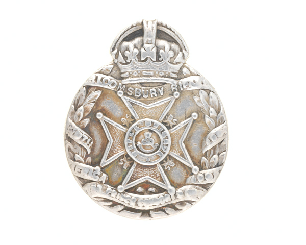 Regimental drill medal, 19th Middlesex (St Giles' and St George's Bloomsbury) Volunteer Battalion, The Rifle Brigade, 1907