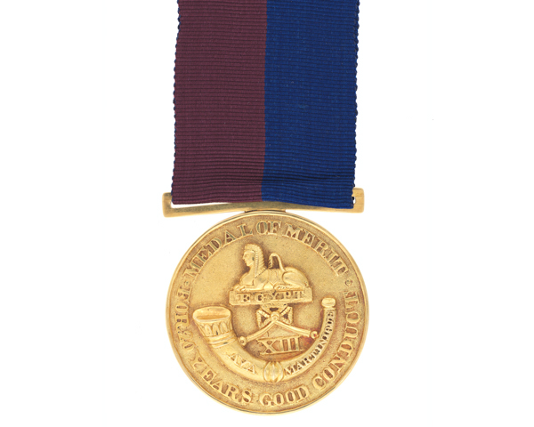 Gold Medal of Merit for 20 Years Good Conduct, 13th Regiment of Foot, 1825