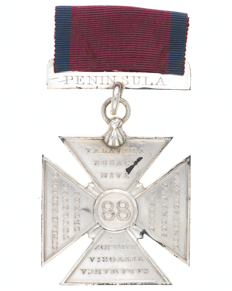 88th (Connaught Rangers) Regiment Order of Merit, 1st Class, 12 actions, 1818