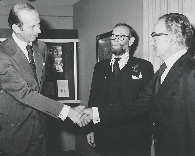 The Duke of Kent (left), 1981